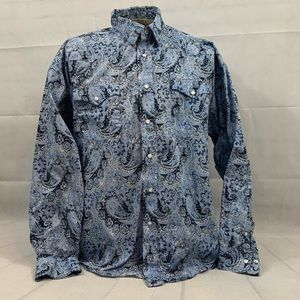 Panhandle Paisley Pearl Snap Western Shirt Size XL